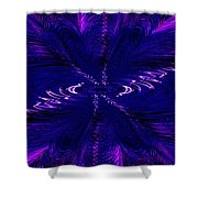 Purl In Purple Shower Curtain