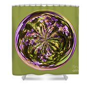 Purpble Wildflower Orb Shower Curtain