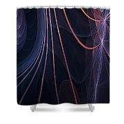 Purple Ablaze Shower Curtain