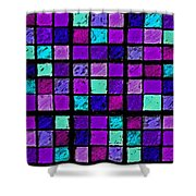 Purple And Aqua Sudoku Shower Curtain