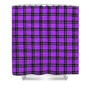 Purple And Black Plaid Textile Background Shower Curtain