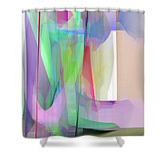 Purple And Green Shower Curtain