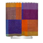 Purple And Orange Get Married Shower Curtain