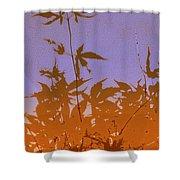 Purple And Orange Haiku Shower Curtain