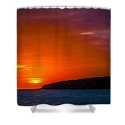 Purple And Orange Sunset Shower Curtain
