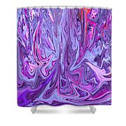 Purple And Pink Abstract Shower Curtain