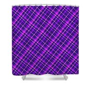 Purple And Pink Diagonal Plaid Fabric Background Shower Curtain