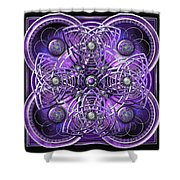 Purple And Silver Celtic Cross Shower Curtain
