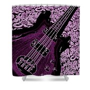 Purple Bass Shower Curtain by Chris Berry