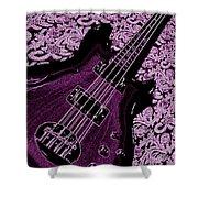Purple Bass Shower Curtain