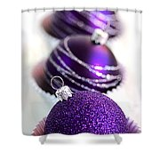 Purple Baubles Shower Curtain