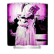 Purple Bride Shower Curtain