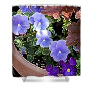 Bright Purple Pansy Shower Curtain