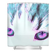 Purple Cat Eyes Shower Curtain