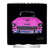 Purple Chevy Pop Art Shower Curtain