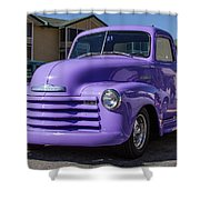Purple Chevy Truck Shower Curtain by Robert L Jackson