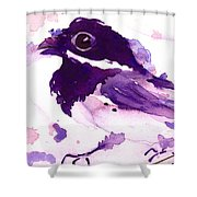 Purple Chick Shower Curtain