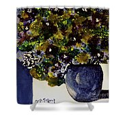 Purple Chrysanthemum Shower Curtain
