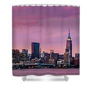 Purple City Shower Curtain