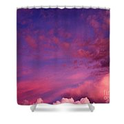 Purple Clouds Majesty Shower Curtain
