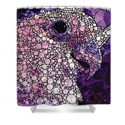 Purple Cockatoo Shower Curtain
