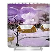 Purple Cold Shower Curtain