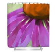Purple Cone Shower Curtain