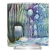 Purple Coral Shower Curtain