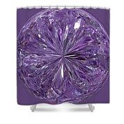 Purple Crystal Gem Shower Curtain