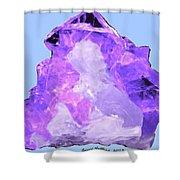 Purple Crystal Quartz Shower Curtain