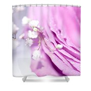 Purple Delight. Natural Watercolor Shower Curtain
