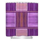 Purple Dreams Squares Shower Curtain