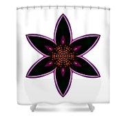 Purple Echinacea I Flower Mandala White Shower Curtain