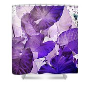 Purple Elephants Shower Curtain