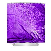 Purple Expectations Shower Curtain