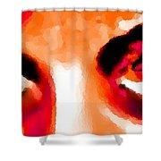 Purple Eyes - Marcello Cicchini Shower Curtain