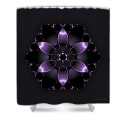 Purple Fantasy Flower Shower Curtain