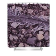 Purple Feather Shower Curtain
