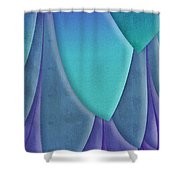 Purple Feathers Shower Curtain