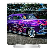 Purple Flame Shower Curtain