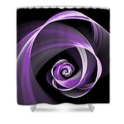 Purple Flirt Shower Curtain