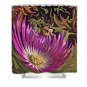 Purple Flower Abstract Shower Curtain