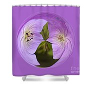 Purple Flower Orb Shower Curtain