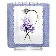 Purple Flowers Serenade Botanical Impressionism Shower Curtain