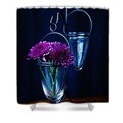 Purple Flowers Still Life Shower Curtain