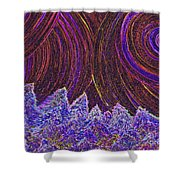 Purple Forest Moon Shower Curtain