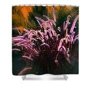 Purple Fountain Grass Fantasy Shower Curtain