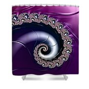 Purple Fractal Spiral For Home Or Office Decor Shower Curtain