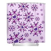 Purple Gems Shower Curtain