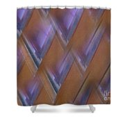 Purple Geometry - Abstract Shower Curtain